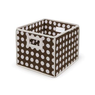 Brown Polka Dot Baskets Folding Storage Organizer Cube Toy Box Totes
