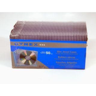 Clear Slim Jewel CD DVD Disk Cases DX CD50 50 Pack 6 Cases Broken See