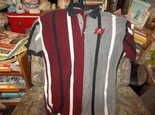 NFL Antigua Tampa Bay Buccaneers Polo Shirt Size XL