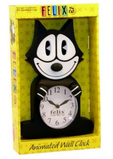 Felix The Cat Animated Wall Clock Moving Eyes Tail