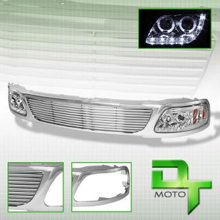 97 98 F150 Expedition Projector LED Headlights Direct Replacement