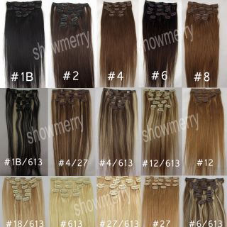 Fashion Remy clip in human hair extensions 70g Any Color& Length Free