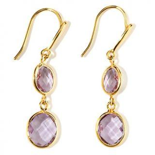 194 691 technibond double oval gemstone drop earrings note customer