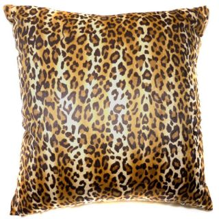 EF08 Faux Fur Brown Leopard Skin Print Cushion Cover Pillow Case