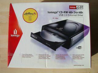 Iomega CD RW 48x24x48 USB 2 0 External Drive PC Mac