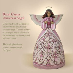 Enesco Jim Shore Breast Cancer Awareness Pink Angel with Heart