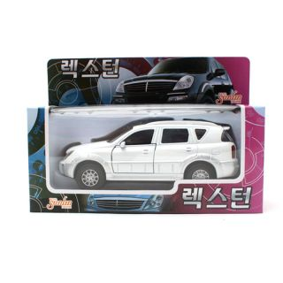 2001 Rexton White Ssangyong Motor Diecast Mini Cars Toys Korea