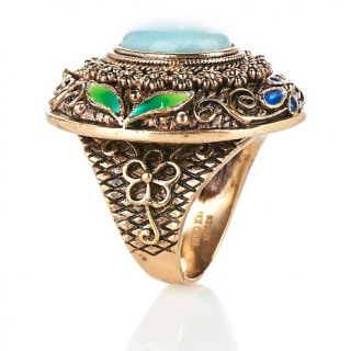 Jewelry Rings Gemstone Amy Kahn Russell Oval ite Bronze
