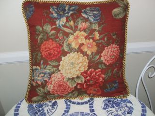 Kravet Emma English French Country Shabby Chic Vintage Pillow