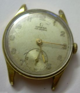 RARE IMPRESSIVE VINTAGE OMEGA NON MAGNETIC 20 M GOLD PLATED WATCH