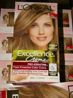 LOT OF 6 LOREAL EXCELLENCE CREME COLOR   DARK BLONDE 7