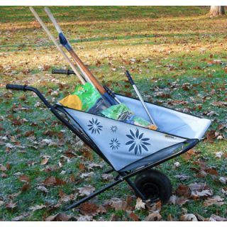 Folding Canvas Wheelbarrow Garden Yard Work Hold 150lbs Foldable EZ