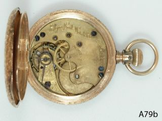 Elgin National Watch Company 14 Karat Gold Pocket Watch Safty Pinion