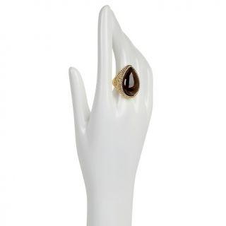 Jewelry Rings Gemstone CL by Design Bold Smoky Quartz Goldtone
