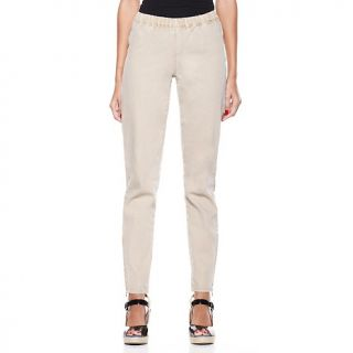 204 039 diane gilman stretch denim jeggings with long ankle zip rating