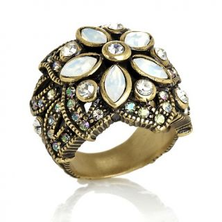 214 681 heidi daus sparkling luminescence crystal accented flower ring