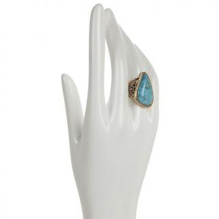 Jewelry Rings Gemstone Studio Barse Bronze Abstract Gemstone Ring