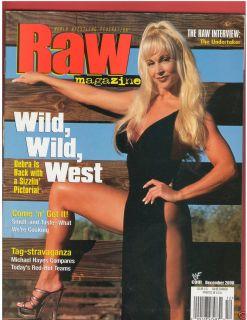 WWE WWF Raw Divas Female Wrestling Mag Debra w Poster 12 00