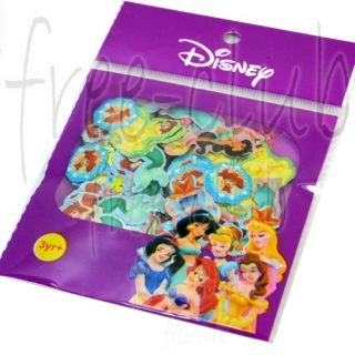 100x Disney Princesses Envelope Seals Glitter Stickers