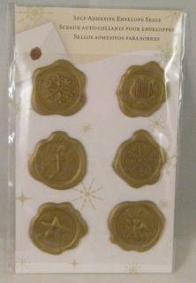 NIP Self Adhesive Envelope Seals Rubber Wax Stamps Stickers Gold