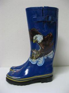 Henry Ferrera Bald Eagle Scorpion Rain Snow Boots Sz 9