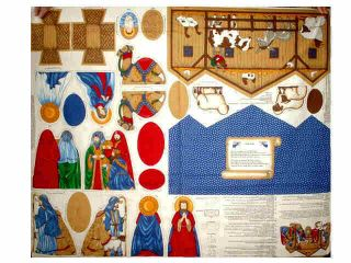 Piece Fabric Nativity Set with Stable Cotton Panel