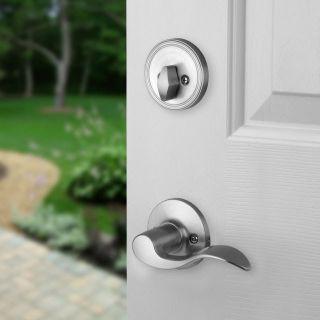 Front Door Entry Set Lock Satin Nickel Heritage Lever