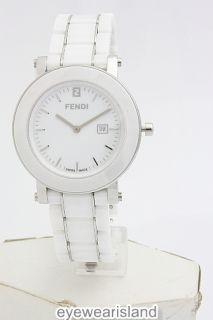 description 117584 fendi f642140 ladies watch round white dial white
