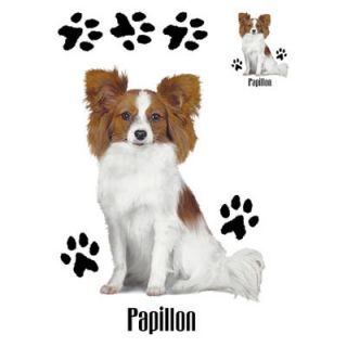 890C Papillon Dog Heat Transfer T Shirt Fabric Iron On