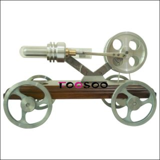 fancy vehicle driven by hot air stirling engine, great toy