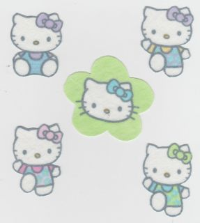 Hello Kitty Flower Set Fabric Appliques Iron Ons