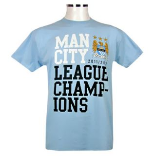 2011 2012 League Champions T Shirt New with Tags EPL Sky Blues