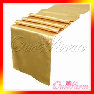 Gold Satin Table Runners Wedding Banquet Decor Colors