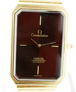 Omega Constellation Jumbo RARE Tigers Eye 18K Yellow Gold Gents Auto