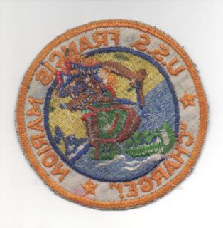 US NAVY ATTACK TRANSPORT PATCH USS FRANCIS MARION CUBAN MISSILE CRISIS