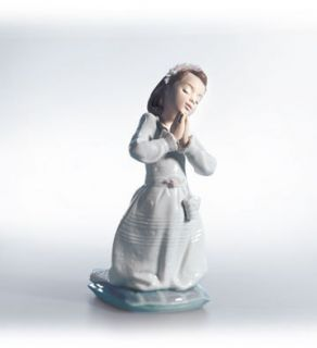 Lladro figurine display porcelain COMMUNION PRAYER GIRL 0100608 new in