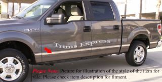 2009 2011 Ford F 150 Body Side Molding Crew Cab 6.5 Short Bed