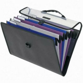 Pendaflex Six Pocket Foldout Expanding File with Hanger Carry Case