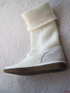 Falls Creek Sweater Cardigan Boot Cream Off White Size 11 Womens New
