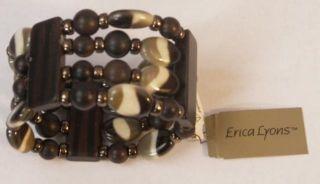 Erica Lyons Jewelry Stretch Bead Bracelet MSRP $32 New