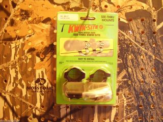 Rings KWIK SITE 1 See Thru For Remington Model Seven Bolt Action 22120