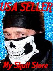 Skeleton Bandana Face Mask Skull Biker Scarf Wild Hogs