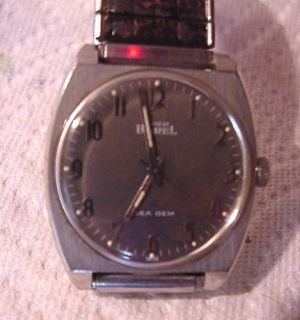 Ernest Borel Sea Gem Mans Wrist Watch w Gray Dial / Works NR