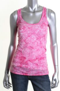 Famous Catalog NEW Pink Tie Dye Crackle Scoop Neck Sleeveless Tank Top