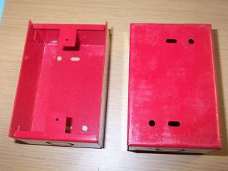 Red Fire Alarm Back Box 5 x 2 x 3 1 4""