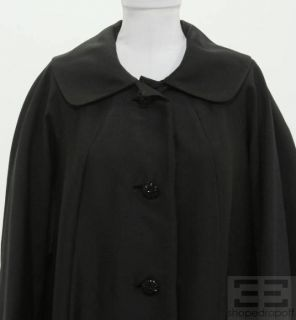 George Carmel  Vintage Black Jeweled Button Coat