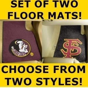 Piece FSU Florida State Seminoles Carpet Car Mats Mat
