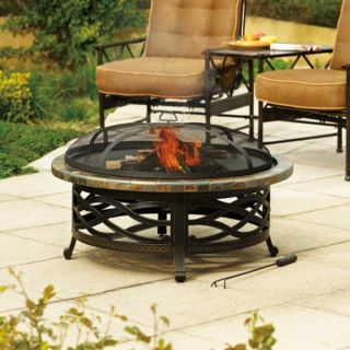Heirloom Heating Heater Slate Deep Firepit Bowl with Dome Screen