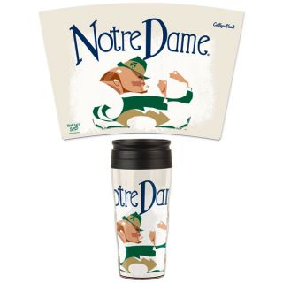 notre dame fighting irish vintage 16oz travel mug