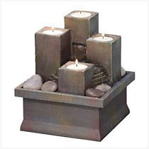 Fire Water Table Top Fountain Home Decoration Christmas Gift Free Gift